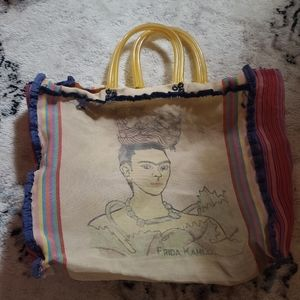 Frida Kahlo Beach Bag